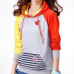 Áo khoác hoodie phối màu cá tính