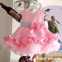 Đầm công chúa hoa hồng cao cấp 447