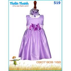 Đầm voan kèm cài tóc xinh xắn cho công chúa