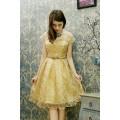 Đầm kim sa nhũ ánh kim vàng - GT28