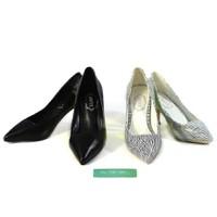 Giày cao gót mũi nhọn kiểu sọc trắng đen CG30