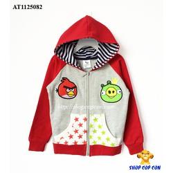 Áo khoác tay phối màu hình angry bird