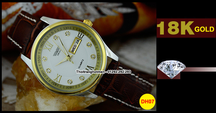 Đồng hồ nam day da cao cấp Swidu -Swi chống thấm chống xước 4