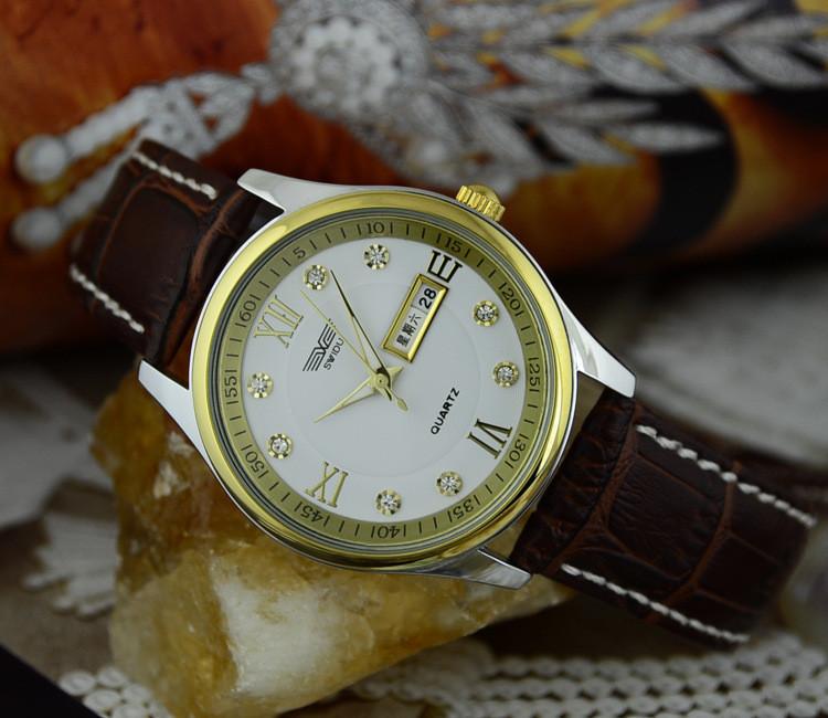 Đồng hồ nam day da cao cấp Swidu -Swi chống thấm chống xước 7