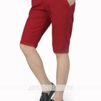Quần short kaki màu đỏ đô phong cách xiteen mới nhất