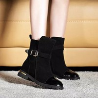 Giày Boot Đế Bệt G057