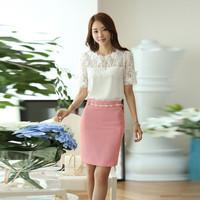 Chân Váy Công Sở Pink Color
