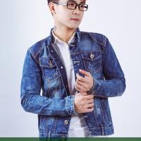 Áo khoác nam jean xanh woat M04