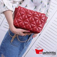 MTL - Túi xách da bóng Zara - Đỏ