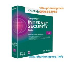 PHẦN MỀM DIỆT VIRUS KASPERSKY INTERNET 2015 1PC