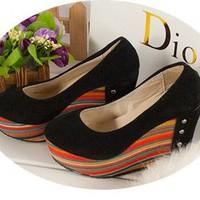 Giày búp bê xuồng đế sắc màu