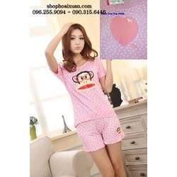 Đồ bộ ngắn mặc nhà hàng xuất khẩu hiệu Pink - DB287
