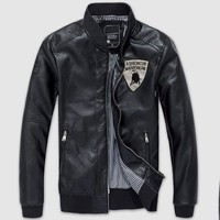 Áo Khoác da Lamborghini - KB021 đen