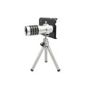 Ống kính Lens 12x cho điện thoại  SAMSUNG NOTE3 Bạc
