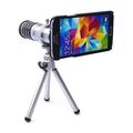Ống kính Lens 12x cho điện thoại  SAMSUNG S5 Bạc