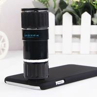 Ống kính Lens 12x cho điện thoại  IPHONE 6 NEW Bạc