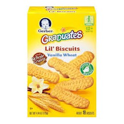 Bánh Quy Gerber Graduates Lil's Biscuits Vanilla Wheat