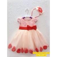 Đầm xinh kèm băng đô cho công chúa nhỏ-QG088
