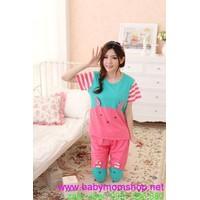 Đồ bộ mặc nhà quần lửng hình thú cute thun cotton chất lượng NN332
