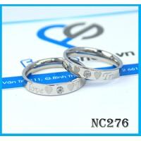 Nhẫn đôi NC276 - BH vĩnh viễn ko đen