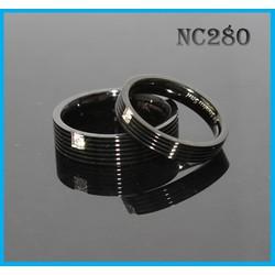 Nhẫn cặp NC280 - BH vĩnh viễn ko đen
