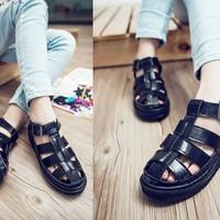 Giày sandals gladiator bánh mì 3 dây ngang