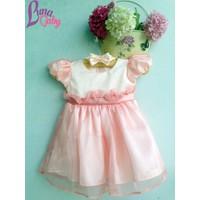 Đầm công chúa pastel nền nã kèm băng đô nơ