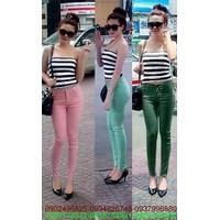 Quần jean skinny color block màu sắc trẻ trung sành điệu zQJE129