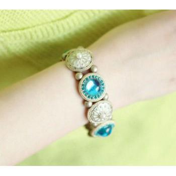 Vòng tay vintage đá xanh ngọc