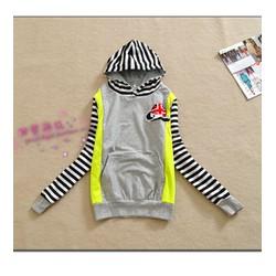 Áo thun hoodie tay sọc Mã: AX2125 - XÁM