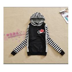 Áo thun hoodie tay sọc Mã: AX2125 - ĐEN