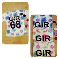 Áo hoa Cúc Tiên hoạ tiết chữ GIR xinh xắn ngày hè AKN172