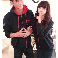 Áo khoác cặp đôi có mũ KN8 - 3 màu lựa chọn