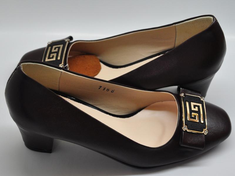 Giày da nữ gót vuông 5p 7368 1