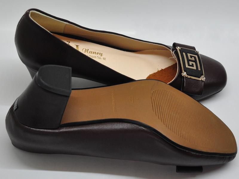 Giày da nữ gót vuông 5p 7368 3