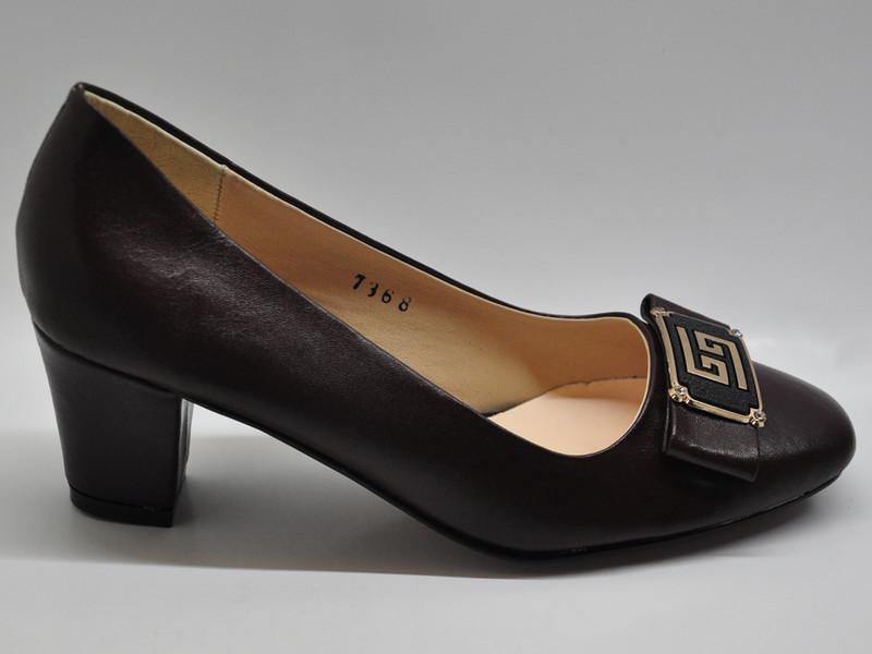 Giày da nữ gót vuông 5p 7368 4