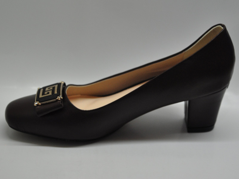 Giày da nữ gót vuông 5p 7368 5