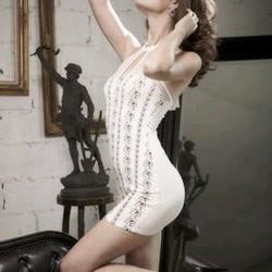 Đầm ôm body cổ trụ, hàng thái lan
