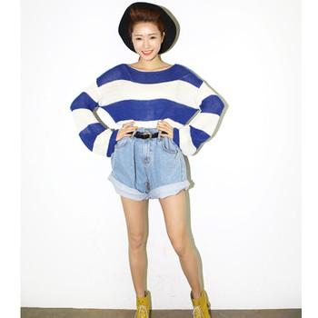 Quần short jeans cá tính Mã: QN376 - XANH NHẠT