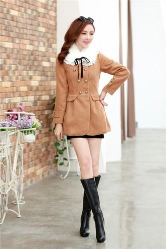 Áo khoác dạ W0043 - màu café, hồng, xanh đen 2