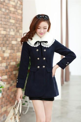 Áo khoác dạ W0043 - màu café, hồng, xanh đen 1