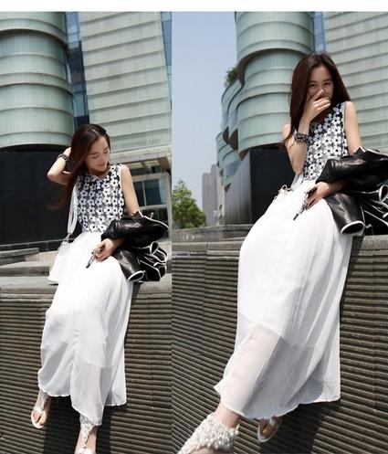 Đầm maxi trắng nữ tính 2