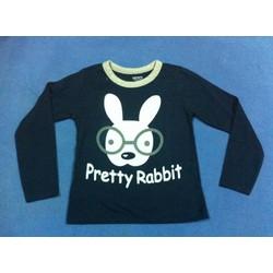 Áo dài tay in hình thỏ
