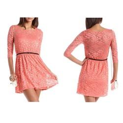 Đầm Charlotte Russe ren cam-ship từ Mỹ giá cực rẻ