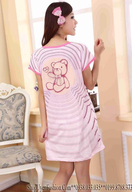 Đầm ngủ họa tiết gấu đáng yêu-DN320 5