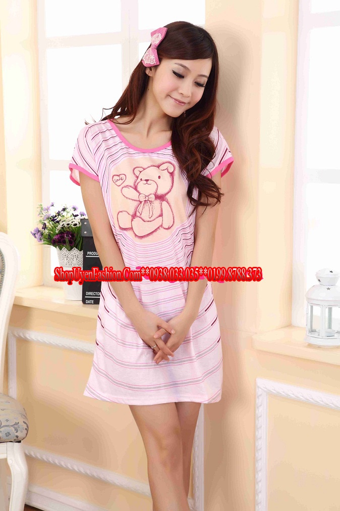 Đầm ngủ họa tiết gấu đáng yêu-DN320 7