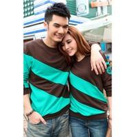 áo thun couple phối màu Mã: AP248 - NÂU
