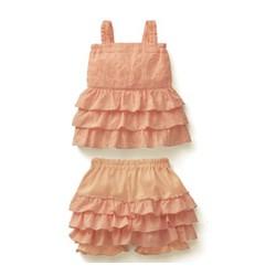 Váy quần xòe tầng cho bé gái