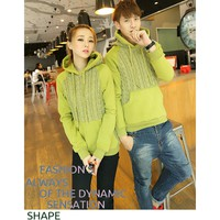 áo thun hoodie phối len couple Mã: AP231