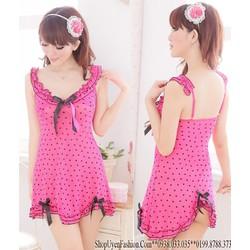 Đầm ngủ tim xinh yêu-DN324